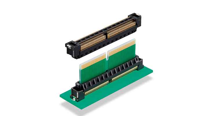 Hirose FX27 series High-speed edge card connector provides flexible stacking heights